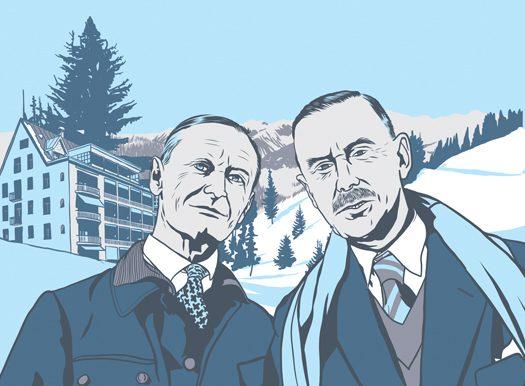 Hermann Hesse y Thomas Mann