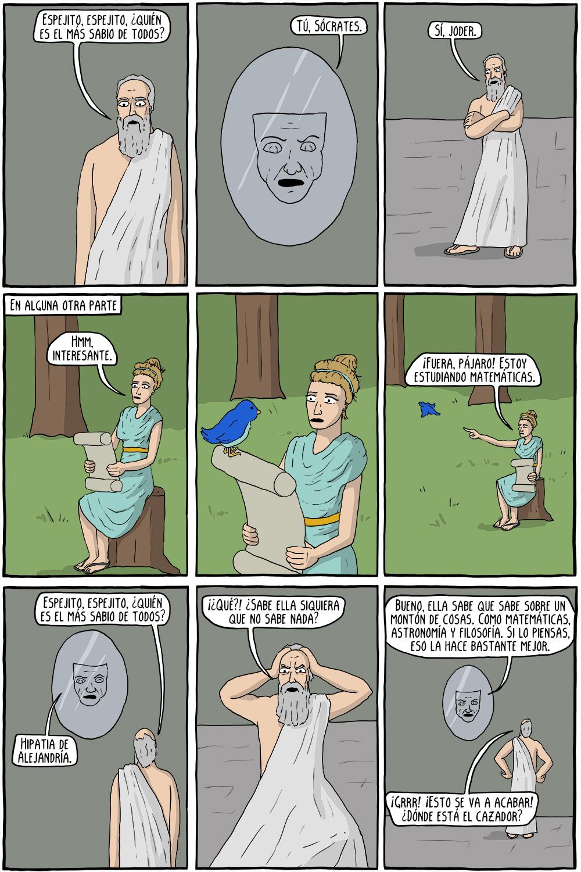 Hipatia de Alejandría y los siete presocráticos - Cómics Existenciales -  STIRNER Ed.